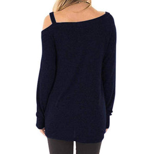 Wife Mom Boss Off-the-Shoulder Long Sleeve T-shirt-Mom-TheWantsies.com