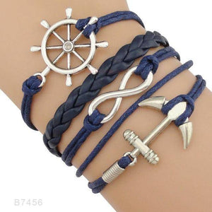 B7456 Nautical Sailing Boating Charm Bracelet-Charm Bracelets-TheWantsies.com