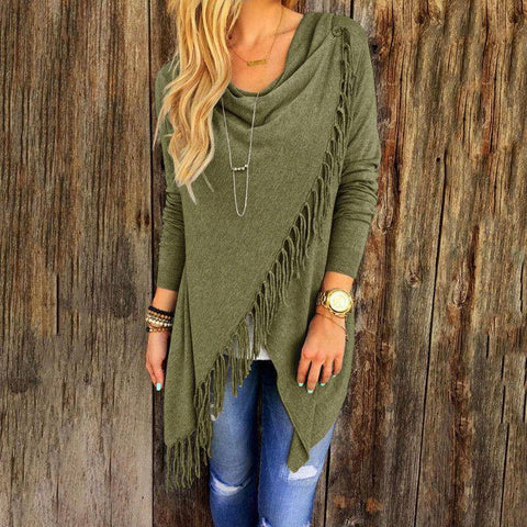 Image of  Wantsies Tassel Knit Wrap-Clothing-TheWantsies.com