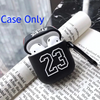 Black Basketball Jersey 23 Shockproof Protective Case For AirPods 1 & 2 with Carabiner-Protective Cases for Airpods-TheWantsies.com