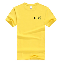 x-Yellow Men's Faith Christian Jesus Fish Ichthys T-Shirt-T-Shirts-M-TheWantsies.com