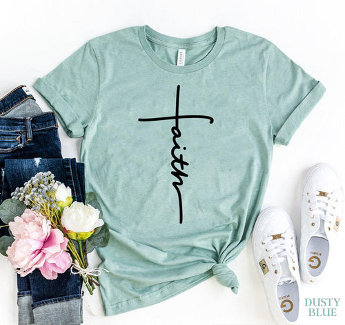 XS Wantsie Womens Faith T-shirt-T-shirts-Dusty Blue-TheWantsies.com