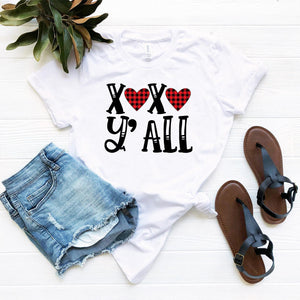 XOXO Y'all Shirt - Valentine's Day-T-shirts-TheWantsies.com
