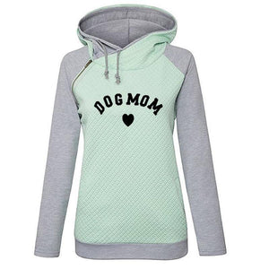 Green Women's Dog Mom Heart Pullover Hoodie Sweatshirt-clothing-S-TheWantsies.com