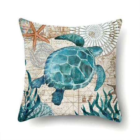 16 Beach Decor Starfish Mermaid Seahorse Throw Pillow Cover-Home-TheWantsies.com
