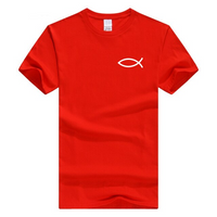 x-Red-b Men's Faith Christian Jesus Fish Ichthys T-Shirt-T-Shirts-M-TheWantsies.com