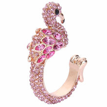 Sparkling Pink Flamingo Austrian Crystal Ring-Jewelry-TheWantsies.com