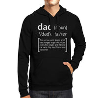 X-SMALL Men's Dad Noun Father Defined Black Hoodie Sweatshirt-Sweaters & Hoodies-TheWantsies.com