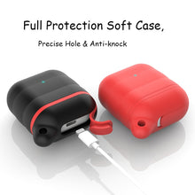 Waterproof Ear Phone Silicone Shockproof Protective Case For AirPods with Carabiner-Protective Cases for Airpods-TheWantsies.com