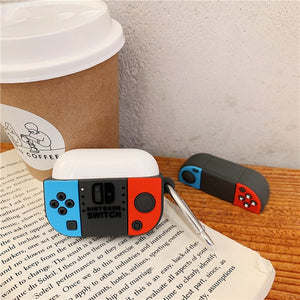 Nintendo Switch Shockproof Protective Case For AirPods Pro with Carabiner-Protective Cases for Airpods-TheWantsies.com