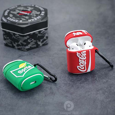Pop Soda Can Drinks Shockproof Protective Case For AirPods 1 & 2 with Carabiner-Protective Cases for Airpods-TheWantsies.com