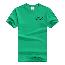 x-green Men's Faith Christian Jesus Fish Ichthys T-Shirt-T-Shirts-M-TheWantsies.com