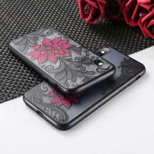 Wantsies Vintage Lace Flower Case For iPhone XR 5S 5 Se 6 7 8 Plus 11 Pro 11 Pro max XS Max XR X - Hot Kisscase-Fitted Cases-TheWantsies.com