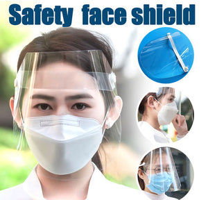 Safety Face Shield to Protect Eyes and Face with Protective Clear Film Elastic Band - 5 Pack-Wellness-TheWantsies.com