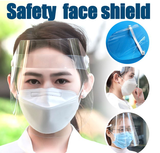 Safety Face Shield to Protect Eyes and Face with Protective Clear Film Elastic Band-Wellness-TheWantsies.com