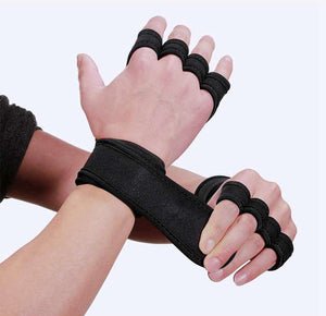 WantsieFit Gym Grip Weight Lifting Training Gloves with Wrist Support-Fitness Gloves-TheWantsies.com