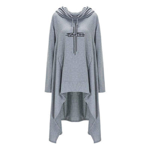 Women's Faith Hoodie Long Duster Sweatshirt-Hoodies & Sweatshirts-TheWantsies.com