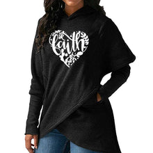 Women's Heart Faith Hoodie Floral Sweatshirt-Hoodies & Sweatshirts-TheWantsies.com