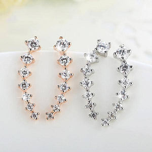 Silver Color Sterling Silver Ear Climber Earrings-Jewelry-TheWantsies.com
