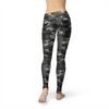 WantsieFit Avery Black Hex Camo Gym Workout Leggings-Leggings-TheWantsies.com