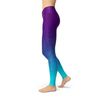 WantsieFit Deep Sea Triangles Gym Workout Leggings - Purple Blue Gradient-Leggings-TheWantsies.com