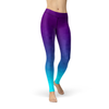2XL WantsieFit Deep Sea Triangles Gym Workout Leggings - Purple Blue Gradient-Leggings-Multicolored-TheWantsies.com