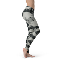 WantsieFit Digital Grey Camo Gym Workout Leggings-Leggings-TheWantsies.com