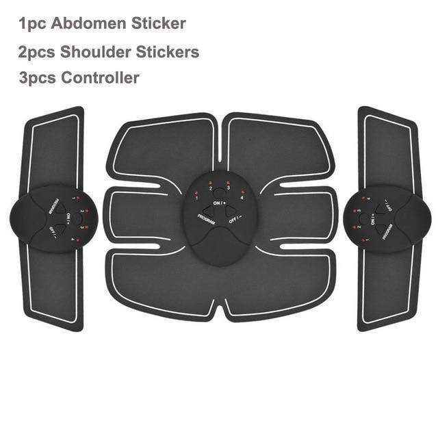 3 in 1 Set Awesome Abs Stimulator Wireless Muscle Trainer-Massage & Relaxation-TheWantsies.com
