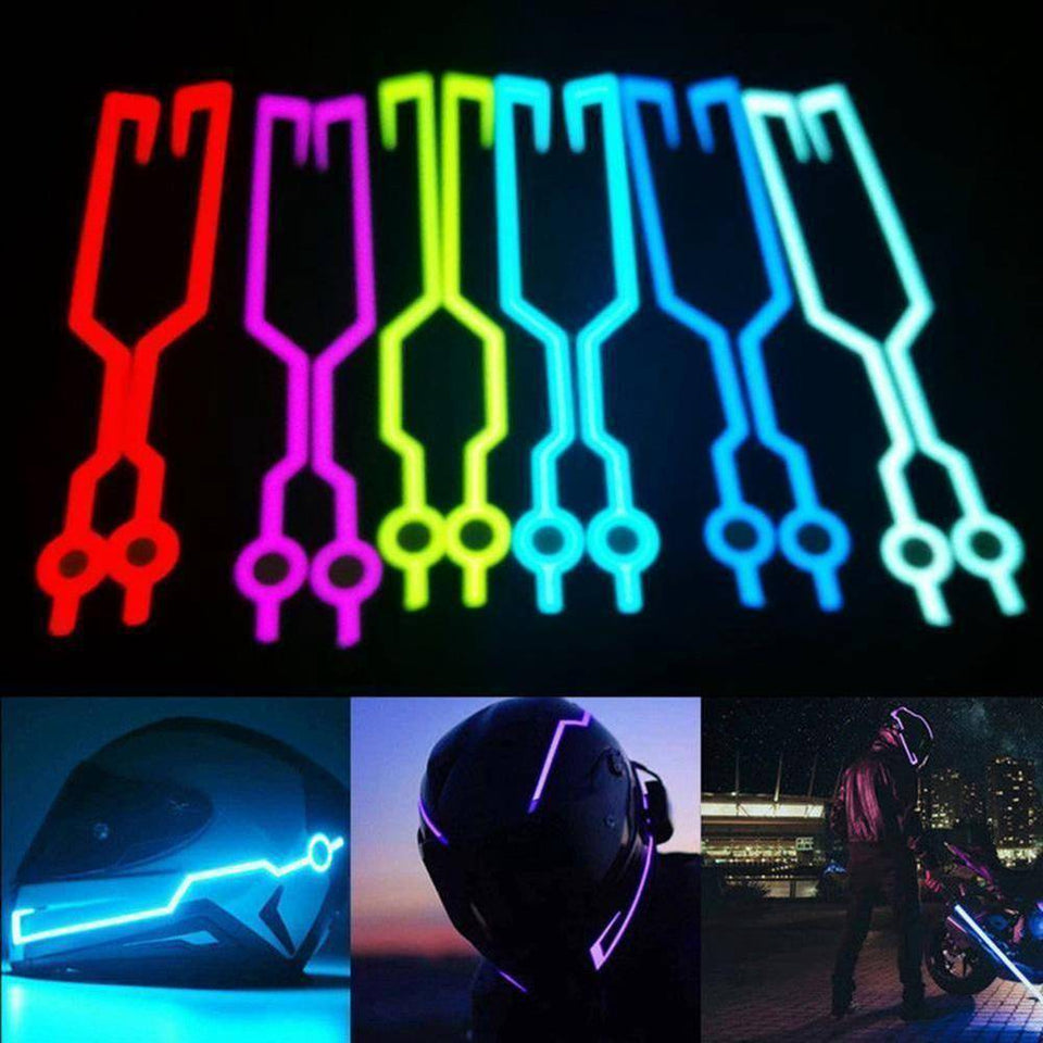 Night Riding Safety Motorcycle Helmet LED Stripe-Summer-TheWantsies.com