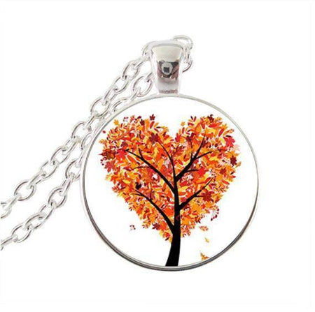 Fall Autumn Tree of Life Pendant Necklace with Chain-Pendant Necklaces-TheWantsies.com