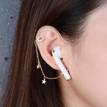 Silver Hoop Pierced Wantsies Anti-Lost AirPod Earrings for Airpods 2/3 Pro - Pierced or Clip On Wireless Earphone Savers-Airpod Earrings-TheWantsies.com