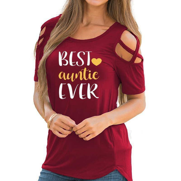 Women's Best Auntie Ever T-Shirt-T-Shirts-TheWantsies.com