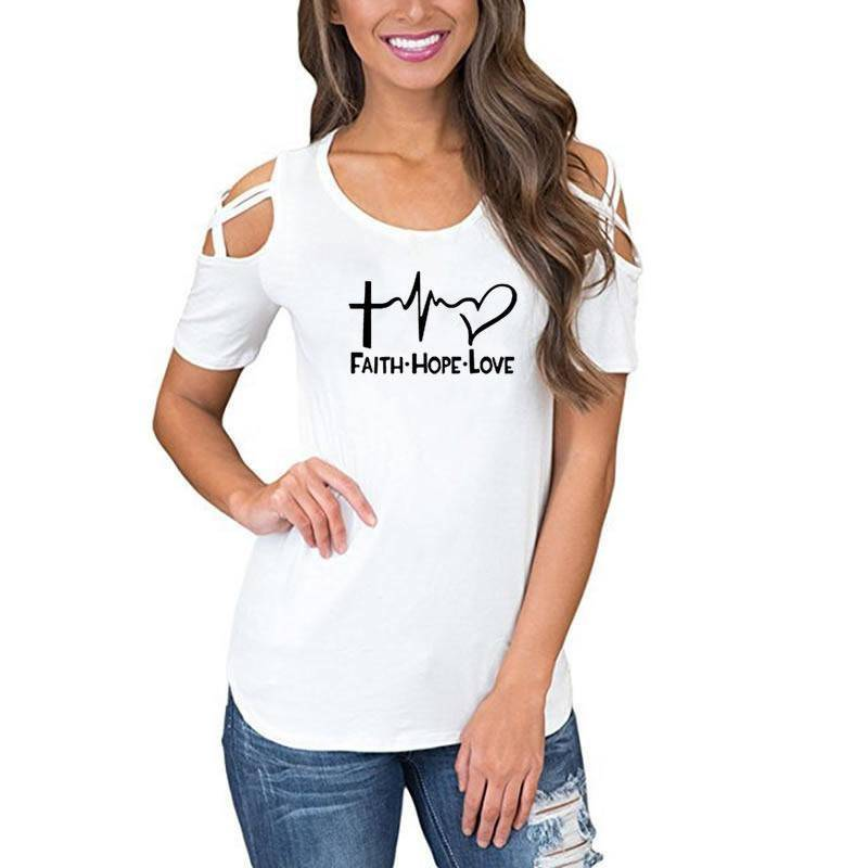 Women's Faith Hope Love T-Shirt-T-Shirts-TheWantsies.com