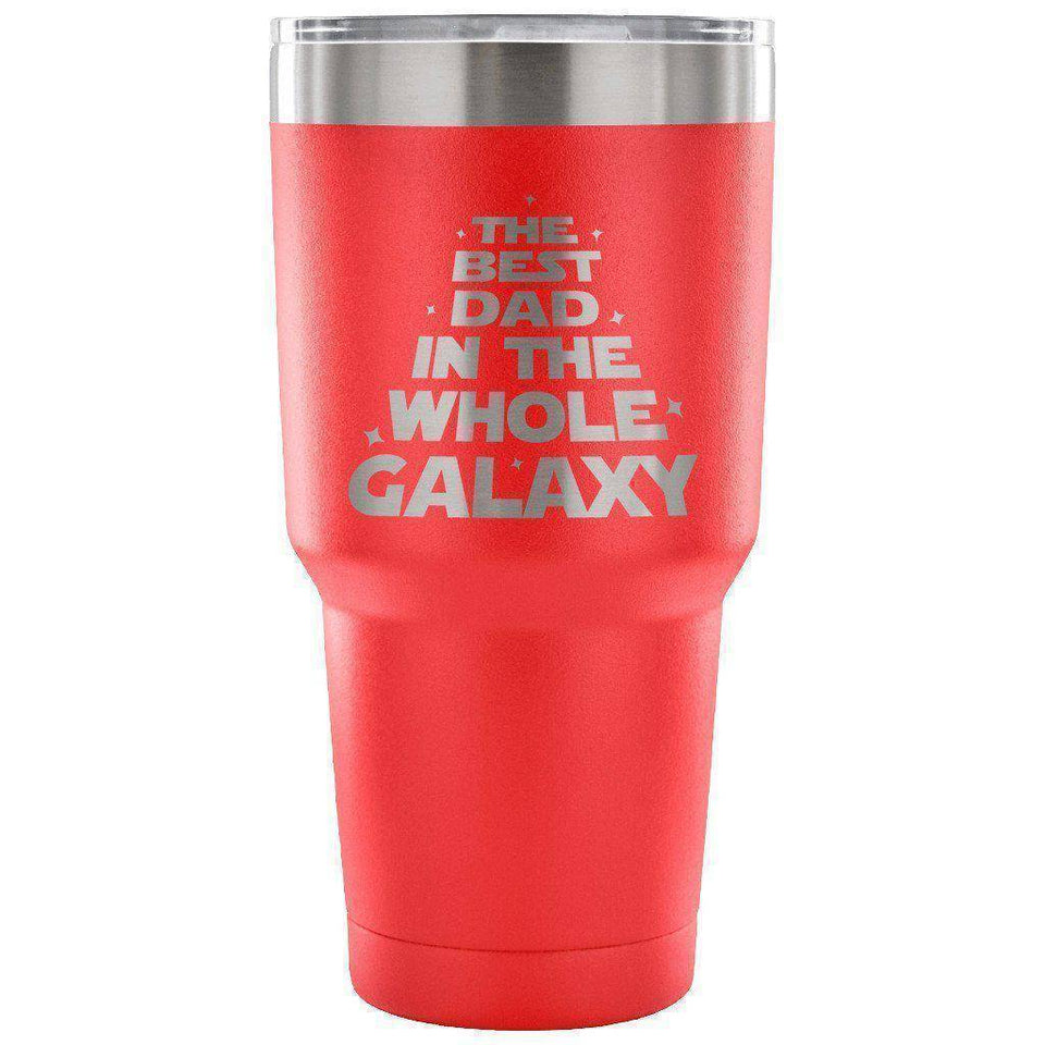 Red The Best Dad in the Whole Galaxy 30 oz Tumbler - Travel Cup, Coffee Mug-TheWantsies.com
