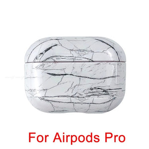 01 [366] Marble Pattern Shockproof Protective Hard Case Shell For AirPods 1, 2 & Pro-Protective Cases for Airpods-TheWantsies.com