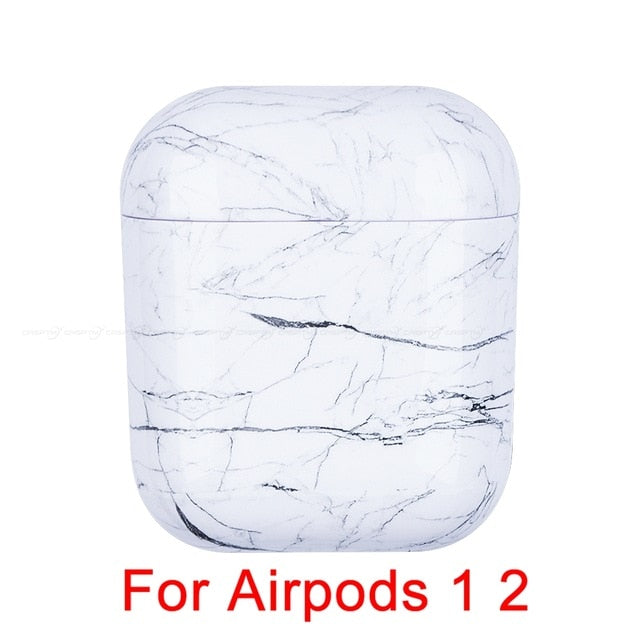 01 Marble Pattern Shockproof Protective Hard Case Shell For AirPods 1, 2 & Pro-Protective Cases for Airpods-TheWantsies.com