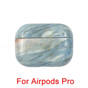02 [496] Marble Pattern Shockproof Protective Hard Case Shell For AirPods 1, 2 & Pro-Protective Cases for Airpods-TheWantsies.com