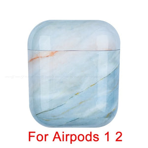 02 Marble Pattern Shockproof Protective Hard Case Shell For AirPods 1, 2 & Pro-Protective Cases for Airpods-TheWantsies.com