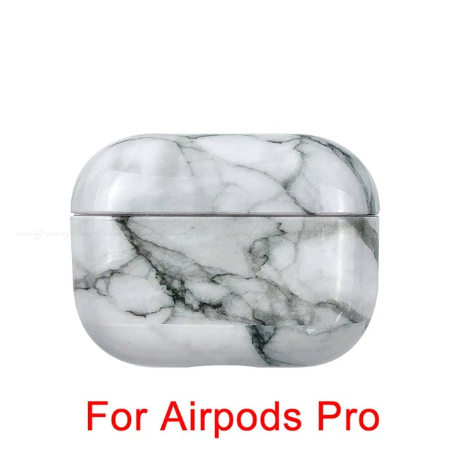 03 [691] Marble Pattern Shockproof Protective Hard Case Shell For AirPods 1, 2 & Pro-Protective Cases for Airpods-TheWantsies.com