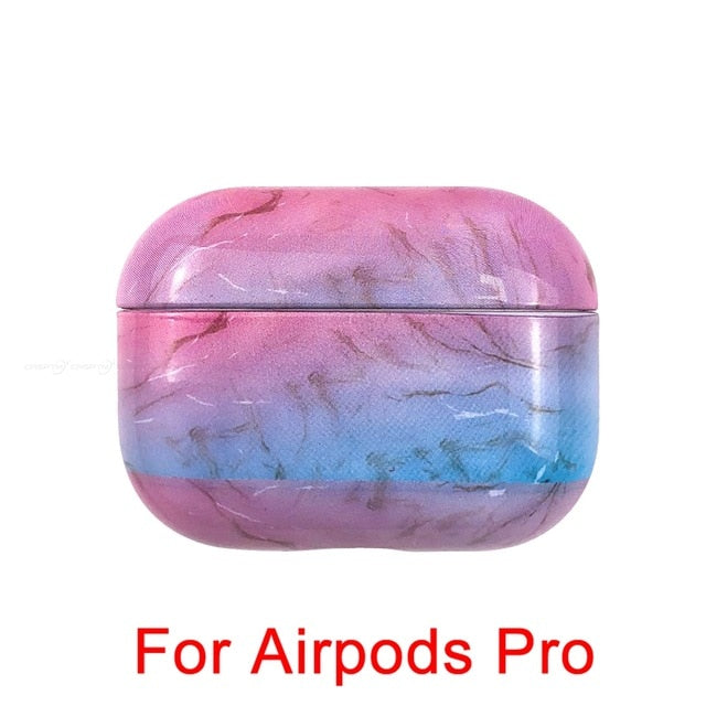 04 [1052] Marble Pattern Shockproof Protective Hard Case Shell For AirPods 1, 2 & Pro-Protective Cases for Airpods-TheWantsies.com