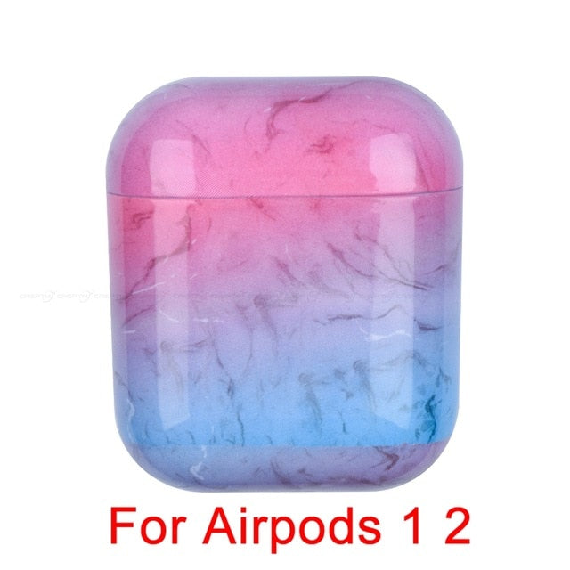 04 Marble Pattern Shockproof Protective Hard Case Shell For AirPods 1, 2 & Pro-Protective Cases for Airpods-TheWantsies.com