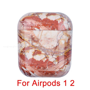 06 Marble Pattern Shockproof Protective Hard Case Shell For AirPods 1, 2 & Pro-Protective Cases for Airpods-TheWantsies.com