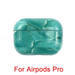07 [201512744] Marble Pattern Shockproof Protective Hard Case Shell For AirPods 1, 2 & Pro-Protective Cases for Airpods-TheWantsies.com