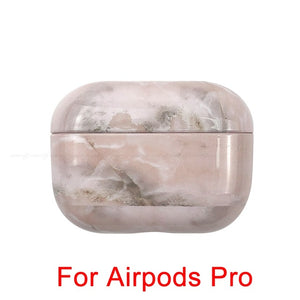 08 [200013901] Marble Pattern Shockproof Protective Hard Case Shell For AirPods 1, 2 & Pro-Protective Cases for Airpods-TheWantsies.com