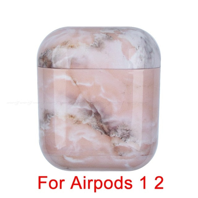 08 Marble Pattern Shockproof Protective Hard Case Shell For AirPods 1, 2 & Pro-Protective Cases for Airpods-TheWantsies.com