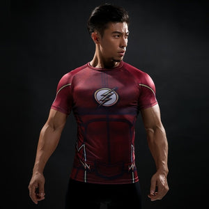 """Superman Black"" WantsieFit Mens Superhero Compression T-Shirt-T-Shirts-S-TheWantsies.com"