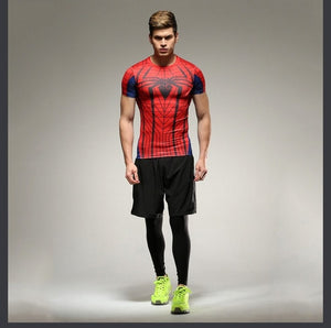 18 WantsieFit Mens Superhero Compression T-Shirt-T-Shirts-S-TheWantsies.com