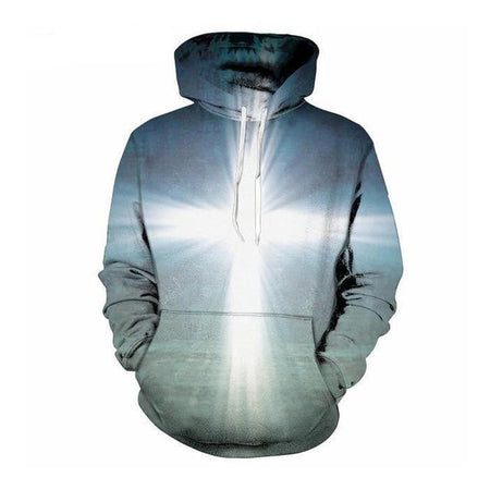 Wantsies Your Inner Light Faith Cross Hoodie Sweatshirt-Hoodies & Sweatshirts-TheWantsies.com