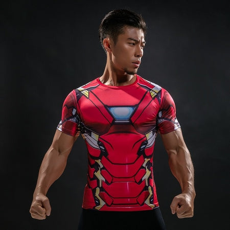 21 WantsieFit Mens Superhero Compression T-Shirt-T-Shirts-S-TheWantsies.com