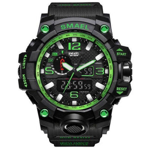 Black Green Mens Military Diver Waterproof Sport Watch-Electronics-TheWantsies.com